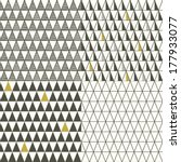 set of four seamless triangle... | Shutterstock .eps vector #177933077