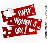happy women's day banners with... | Shutterstock .eps vector #177942437
