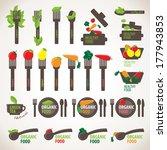 organic  healthy and vegetarian ... | Shutterstock .eps vector #177943853