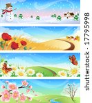 four seasons landscapes | Shutterstock . vector #17795998
