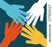 teamwork design over  blue... | Shutterstock .eps vector #177969317