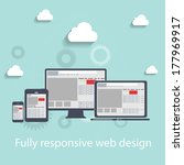 responsive web design icon.... | Shutterstock .eps vector #177969917