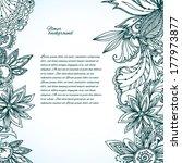 floral background | Shutterstock .eps vector #177973877