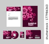 corporate identity template.  | Shutterstock .eps vector #177986363
