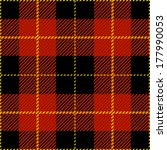 Red Seamless Tartan Plaid Design Pattern