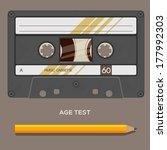 vintage retro cassette tape ...