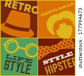 hipster design over colors... | Shutterstock .eps vector #177994673