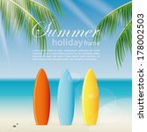 abstract summer holiday... | Shutterstock .eps vector #178002503