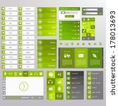 green web design  elements ...