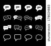 speech icon   white | Shutterstock .eps vector #178024883