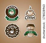 four coffee design templates.... | Shutterstock .eps vector #178028963
