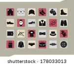 set of icons. men's clothing... | Shutterstock .eps vector #178033013