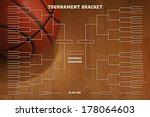 basketball tournament bracket... | Shutterstock . vector #178064603