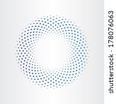halftone circle with squares | Shutterstock .eps vector #178076063