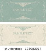 set of antique greeting cards ... | Shutterstock .eps vector #178083017