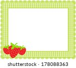 Strawberry Gingham Frame...