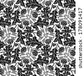 floral seamless pattern with... | Shutterstock . vector #178091417