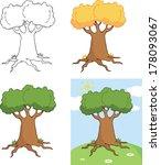 big cartoon tree cartoon... | Shutterstock . vector #178093067