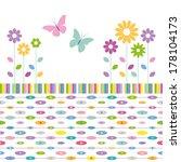 flowers and butterflies... | Shutterstock .eps vector #178104173