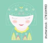cute illustration of cartoon...   Shutterstock . vector #178104983