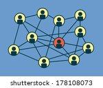 social media circles  network... | Shutterstock .eps vector #178108073