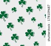 pattern of leaf clover | Shutterstock .eps vector #178109687