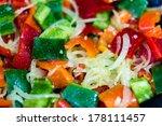 sweet pepper saute   Shutterstock . vector #178111457
