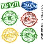 set of grunge rubber stamps... | Shutterstock .eps vector #178116473