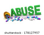 word abuse with pills... | Shutterstock . vector #178127957