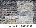 Old Multi Colored Brick Wall