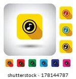 flat design vector icon  ... | Shutterstock .eps vector #178144787