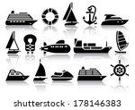 Set Of Water Transport Black...