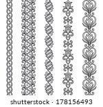 seamless vector ornamental... | Shutterstock .eps vector #178156493