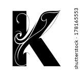 Decorative Letter Shape. Font K