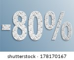 eighty percent discount banner | Shutterstock .eps vector #178170167