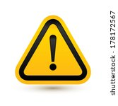 attention sign. vector... | Shutterstock .eps vector #178172567