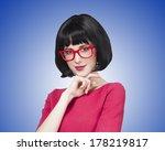 Brunette Girl In Glasses At ...