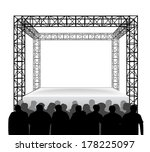empty festival stage with...   Shutterstock .eps vector #178225097