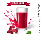 fresh juice background with... | Shutterstock .eps vector #178242803