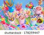 colorful birthday party table... | Shutterstock . vector #178259447