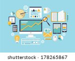 office object. flat vector... | Shutterstock .eps vector #178265867