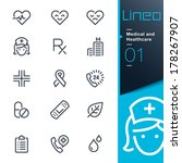 lineo   medical and healthcare... | Shutterstock .eps vector #178267907