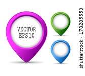 location pin button | Shutterstock .eps vector #178285553