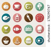 food icons set.vector | Shutterstock .eps vector #178290767