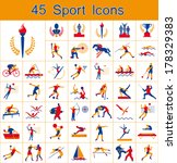 set of olympic summer games... | Shutterstock .eps vector #178329383