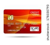 vector credit card design...
