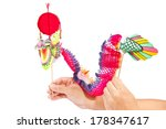 Paper Dragon Puppet Isolated O...