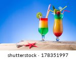 fresh tropical cocktail on... | Shutterstock . vector #178351997