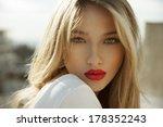 fashion photo of blonde beauty...   Shutterstock . vector #178352243
