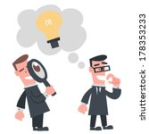 businessman looking other idea | Shutterstock .eps vector #178353233